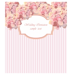 Card with Watercolor Geranium flower frame vector image