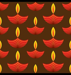 creative red diwali diya pattern background vector image