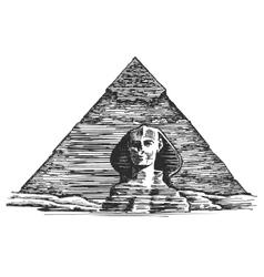 Egypt logo design template Egyptian vector image
