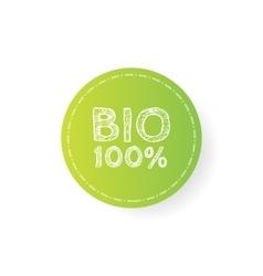 Grunge bio 100 percent natural rubber stamp vector