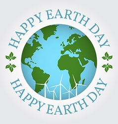 Happy Earth Day badge label logo rubber stamp vector image