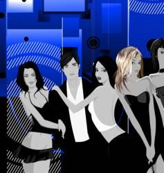nightclub scene vector image