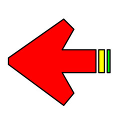 arrows sign vector image vector image