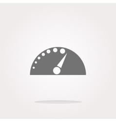 automotive tachometer on web button icon vector image vector image
