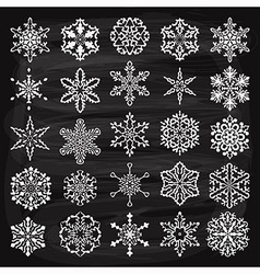 holiday design elements and snowflakes vector image vector image