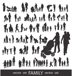 People Silhouettes isolated on white vector image vector image