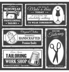 Professional tailor labels set vector image vector image