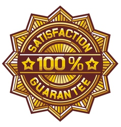 100 percent satisfaction guarantee label vector image
