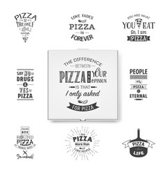 3d realistic blank white pizza box template vector