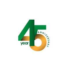 45 year anniversary template design vector