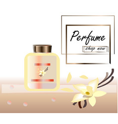 a realistic style perfume vector image