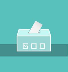 Ballot box icon for app or website vector