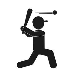 Baseball pictogram icon vector