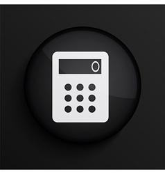 black circle icon Eps10 vector image