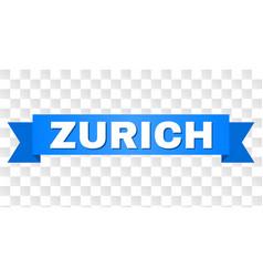 Blue stripe with zurich title vector