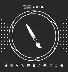 brush symbol icon vector image