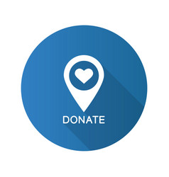 charity organization location flat design long vector image
