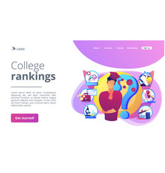 College choice concept landing page vector