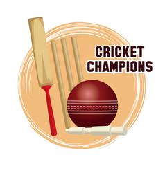 cricket champions design vector image