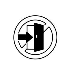 Do not enter linear icon vector