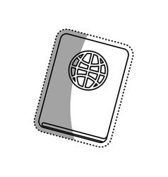 Document passport travel vector
