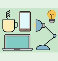 Education school web outline vector