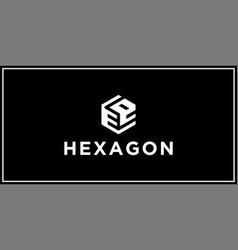 ee hexagon logo design inspiration vector image