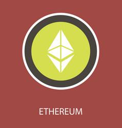 Ethereum symbol icon eps file vector