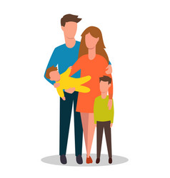 family mom dad their children boy and girl flat vector image