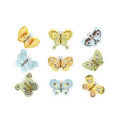 Fantastic tropical butterfly with funky design vector