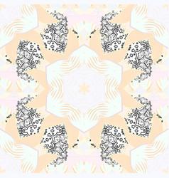 flat flower elements design flowers on neutral vector image