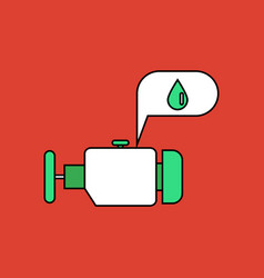 Flat icon design collection engine and oil vector