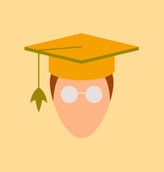 Flat icon on stylish background master scientist vector