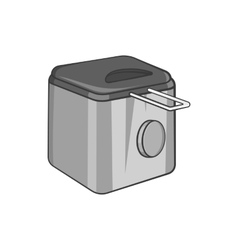 Fryer icon black monochrome style vector