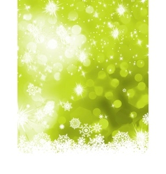 Green abstract christmas with snowflake EPS 8 vector image
