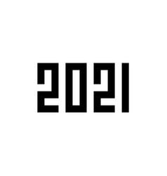 happy new year 2021 pixel art style vector image