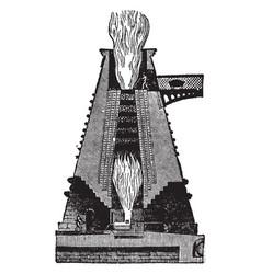 hot blast smelting furnace vintage vector image