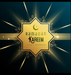 islamic background for ramadan kareem season vector image