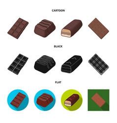 Isolated object chocolate and flavor sign set vector