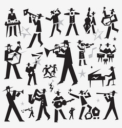 Jazz band doodles vector