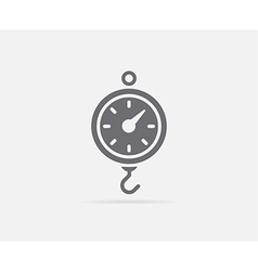 Kitchen scale element or icon ready for print vector