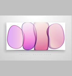 Liquid ink alcohol watercolor pink spots modern vector
