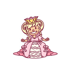 little princess queen vector image