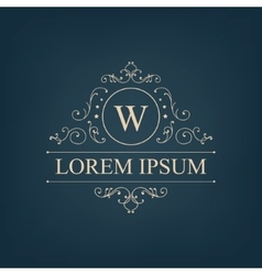 Luxury royal monogram logo icon isolated vector