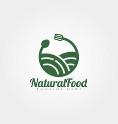 Natural food logo design vector