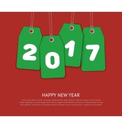 New Year template vector image