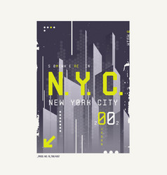 new york city t-shirt abstract geometric vector image