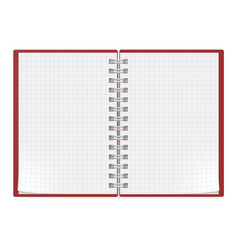 Notebook on white background for design vector