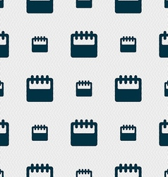 Notepad calendar icon sign Seamless pattern with vector