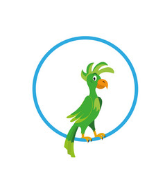 parrot in ring vector image